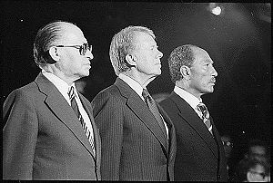 Menahem Begin, Jimmy Carter et Anouar el-Sadate